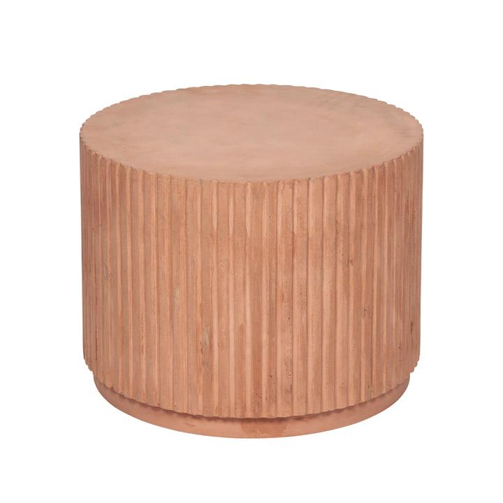 Rillo side table, Ø 56 x H 42 cm, camel by Broste Copenhagen