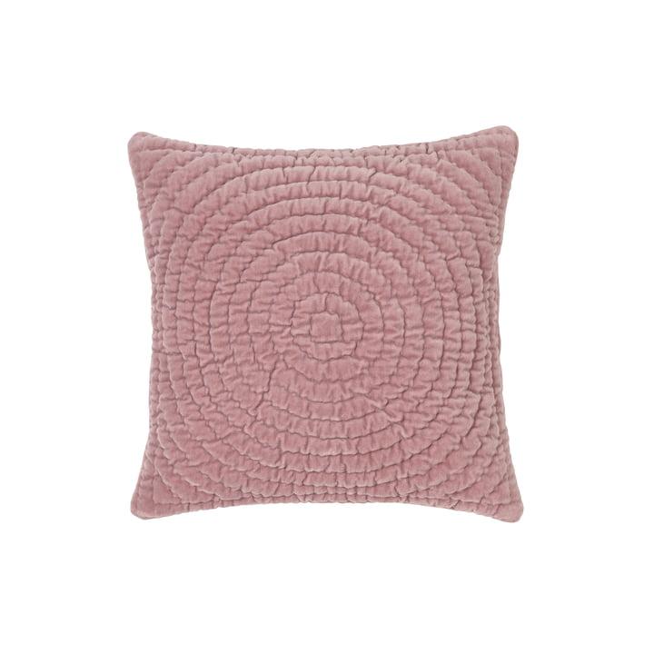 Quilt ring velvet pillow case, 40 x 40 cm, fawn by Broste Copenhagen