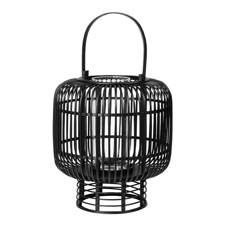 Goran bamboo lantern, Ø 37 x H 42 cm, black from Broste Copenhagen