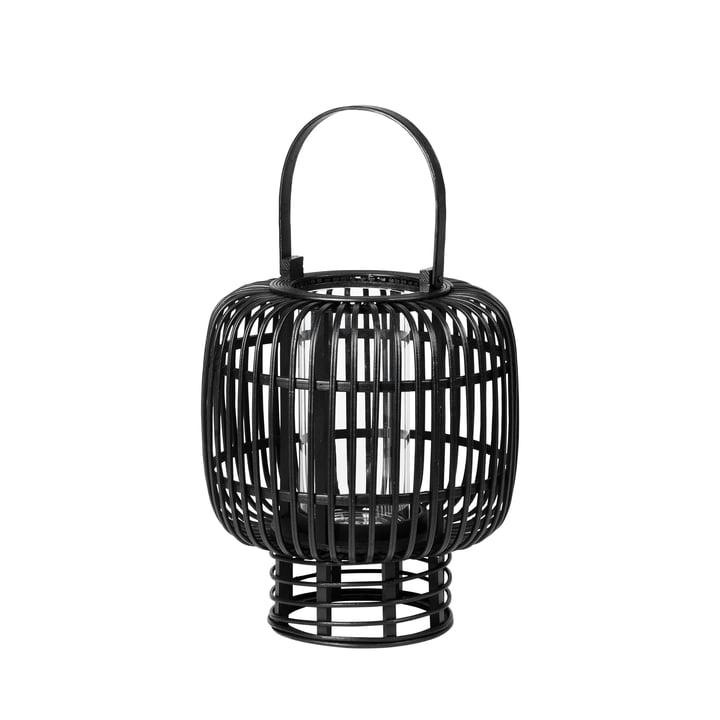 Goran bamboo lantern, Ø 27.5 x H 33 cm, black from Broste Copenhagen