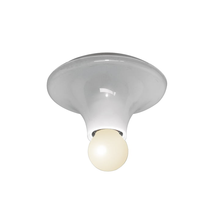 Teti wall and ceiling lamp by Artemide in transparent