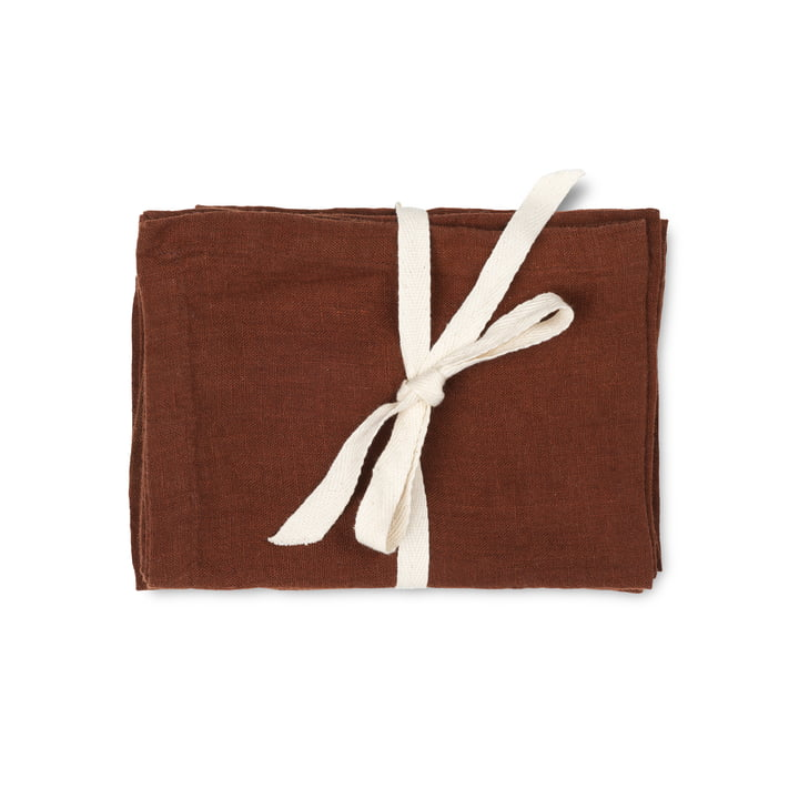 Linen placemat, 50 x 30 cm, cinnamon (set of 2) by ferm Living