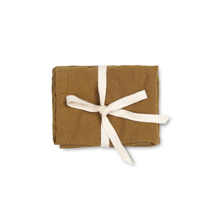 Linen napkins, 45 x 45 cm, cinnamon (set of 2) by ferm Living