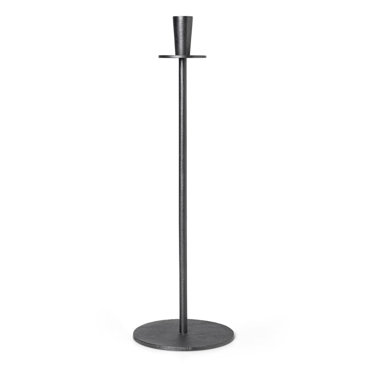Hoy Casted candle holder H 55 cm, black by ferm Living