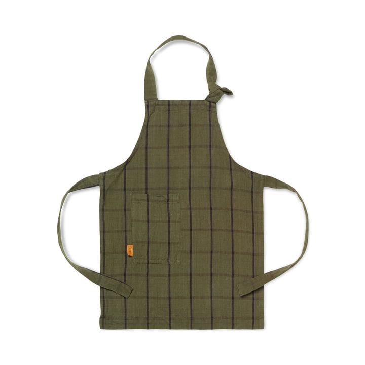 Hale kids kitchen apron, green / black by ferm Living