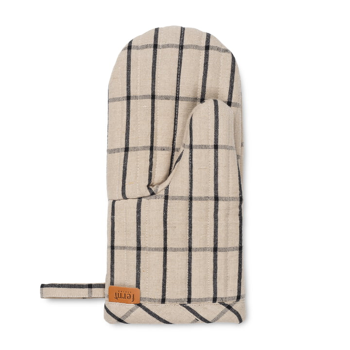 Hale oven glove, sand / black from ferm Living