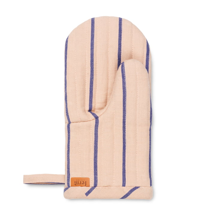 Hale oven glove, rose / bright blue from ferm Living