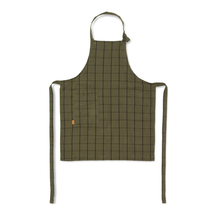 Hale kitchen apron, green / black from ferm Living