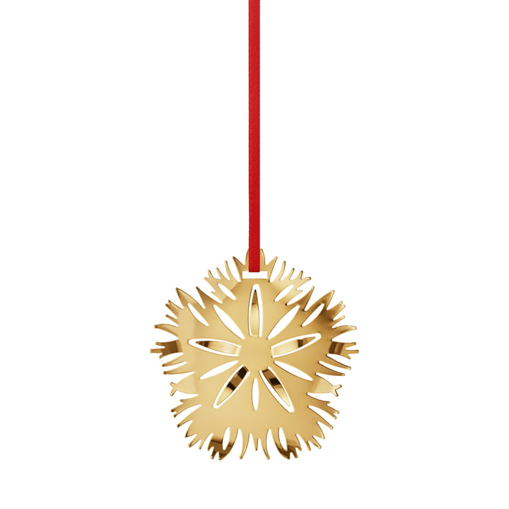Holiday Ornament 2020 Ice Dianthus, gold by Georg Jensen .