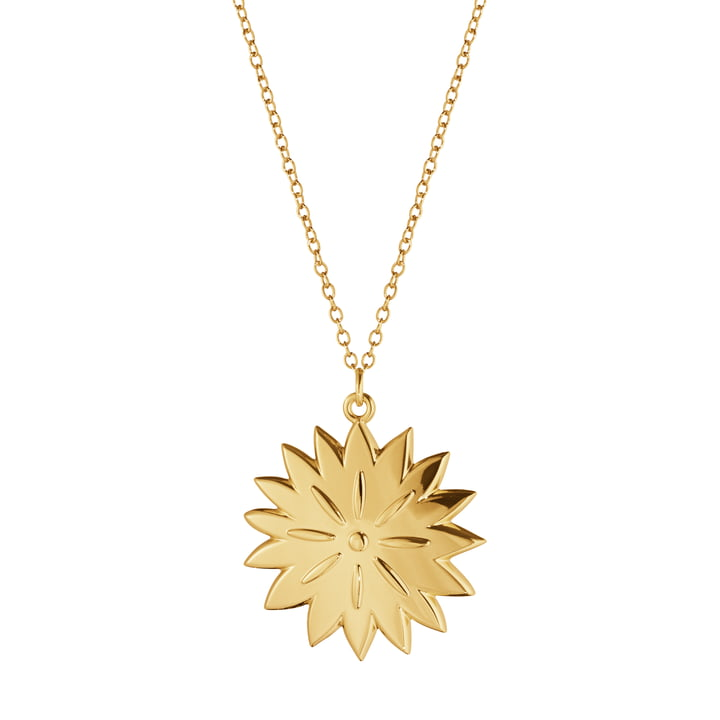 Ornament pendant 2020 Ice Dianthus, gold by Georg Jensen .