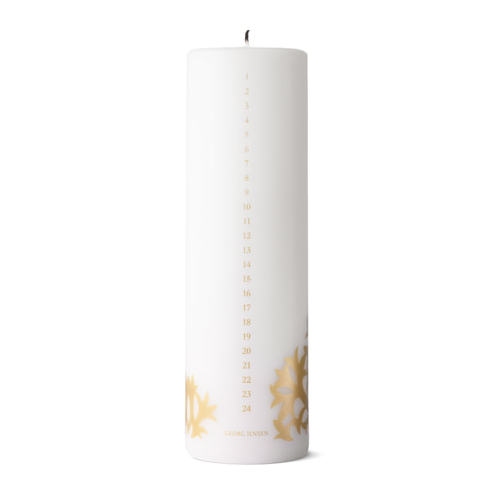 Christmas Collectibles Calendar Candle 2020, gold by Georg Jensen .