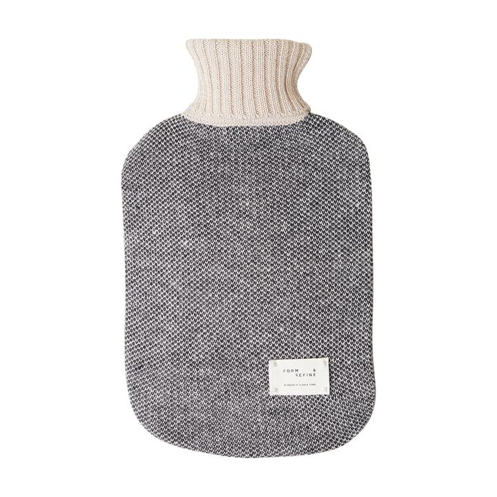 Aymara hot water bottle, patterned cream by Form & Refine