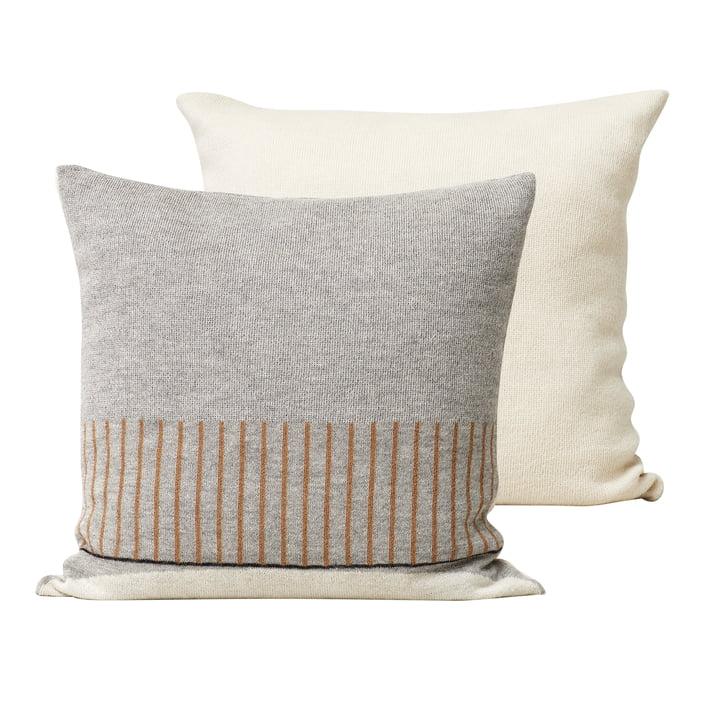 Aymara Cushion, 52 x 52 cm, patterned grey from Form & Refine