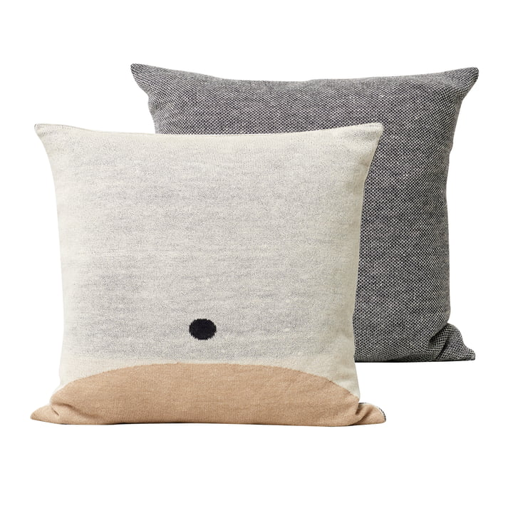 Aymara pillow, 52 x 52 cm, patterned cream by Form & Refine