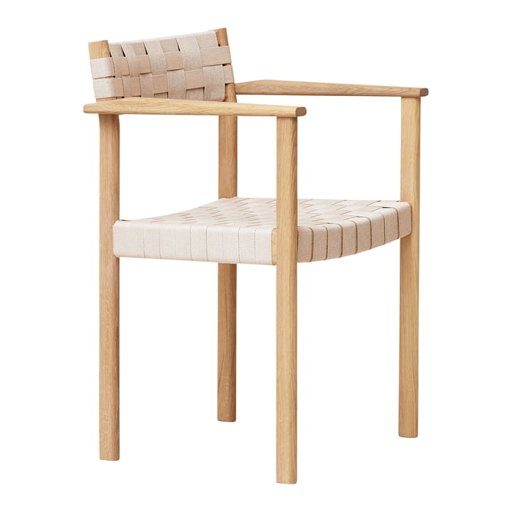 Motif armchair, white pigmented oak from Form & Refine