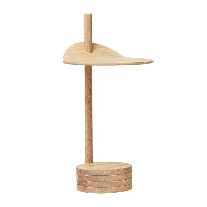Stilk side table, white pigmented oak from Form & Refine