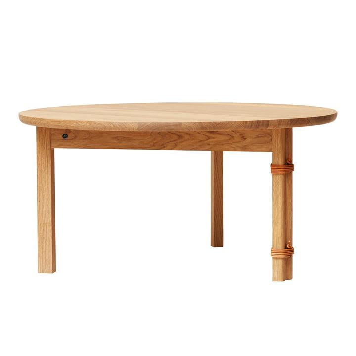Strap coffee table, Ø 90 cm, oak from Form & Refine