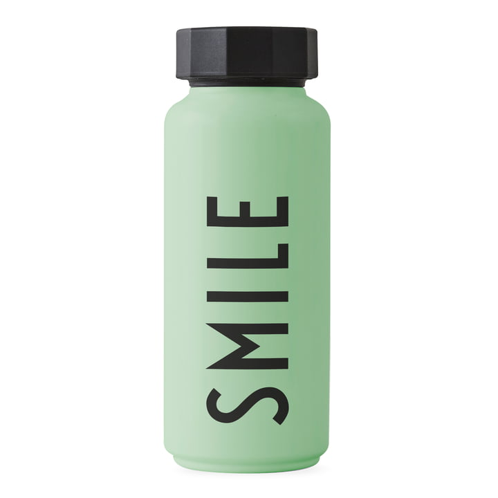 The AJ thermos bottle Hot & Cold 0.5 l, Smile / green by Design Letters