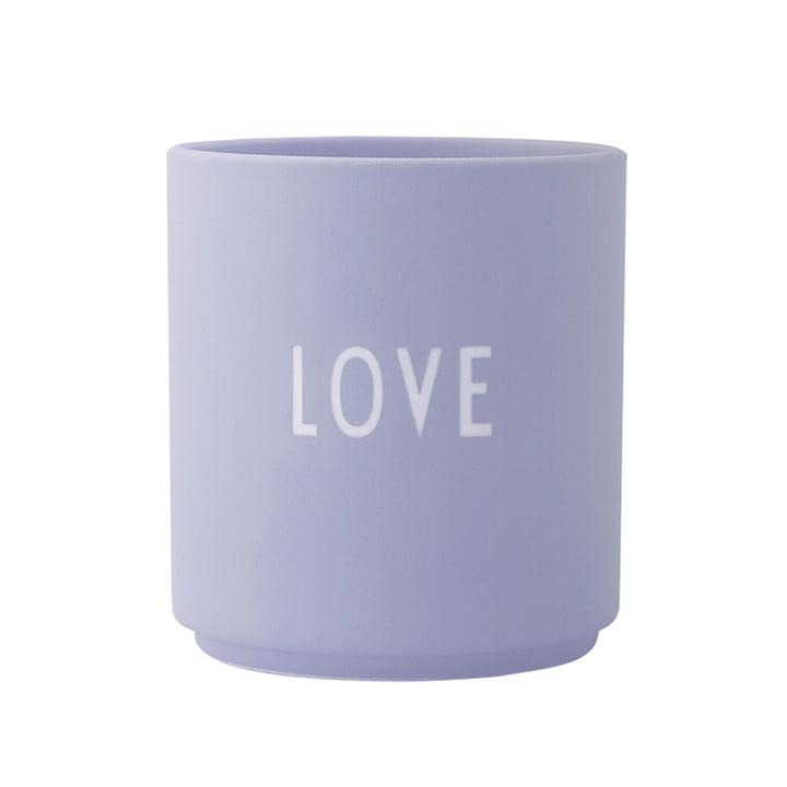 The AJ Favourite porcelain mug, Love / lilac by Design Letters