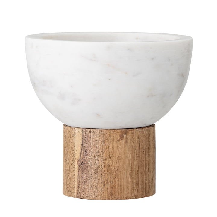 Marble serving bowl, Ø 14.5 x H 14 cm, white from Bloomingville