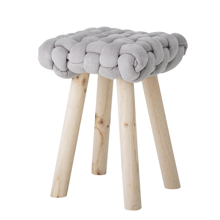 Nathan Stool H 47 cm, gray from Bloomingville