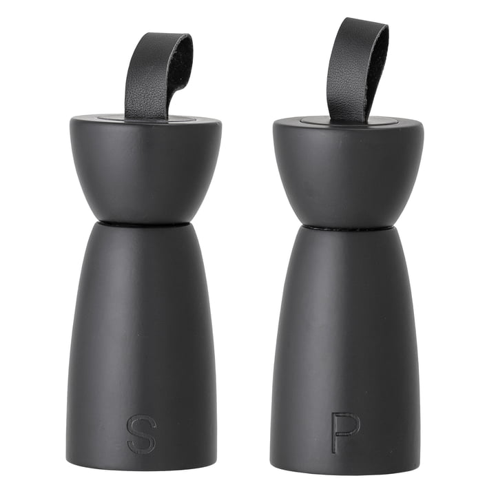 Hanif salt & pepper mill, black (set of 2) from Bloomingville