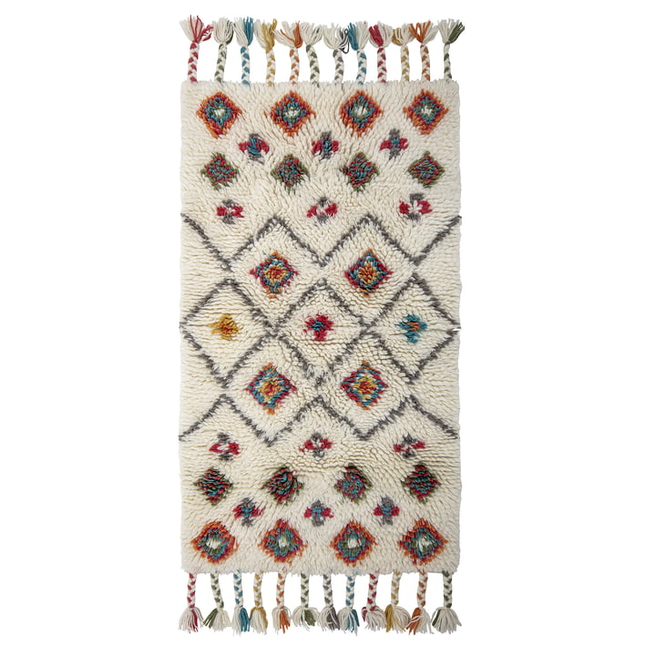 Ibne Rug, 90 x 150 cm, wool / natural from Bloomingville
