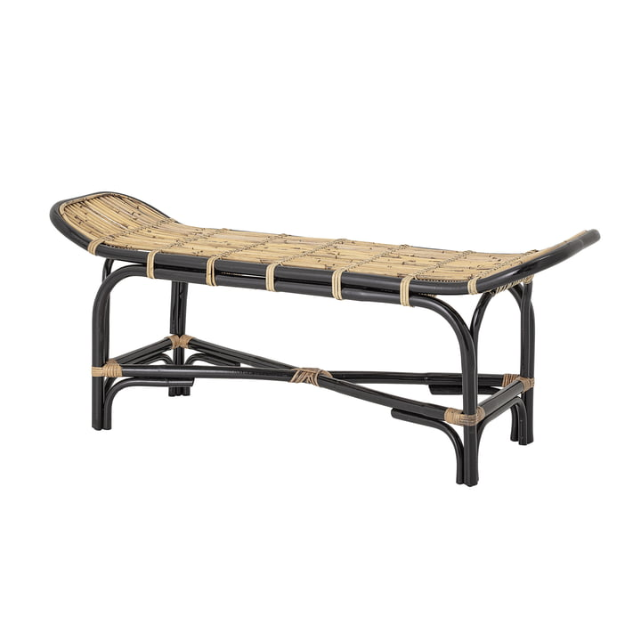 Loue rattan bench, natural / black from Bloomingville .