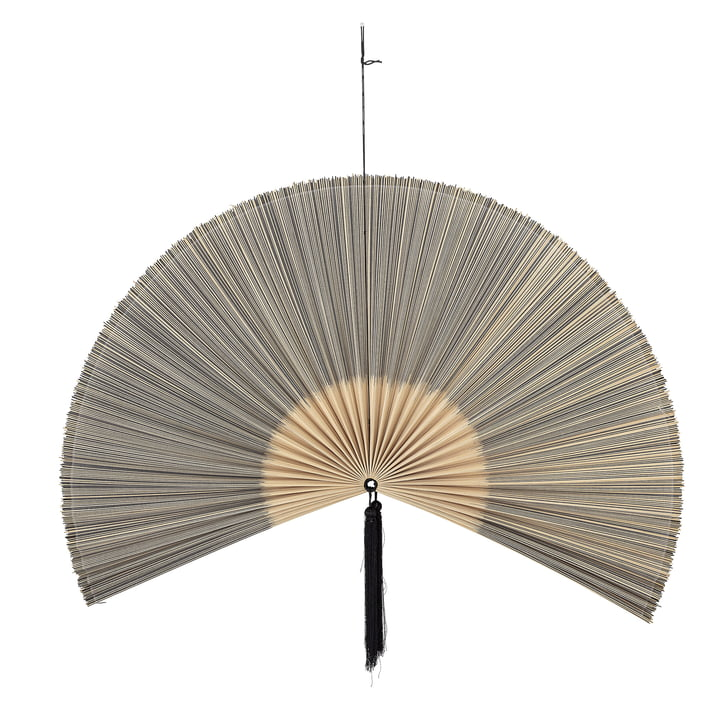 Jaime wall decoration fan, 145 x 72 cm, bamboo / black from Bloomingville .