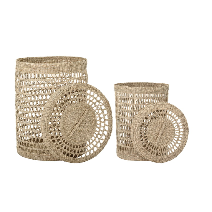 Connie seagrass basket (set of 2) by Bloomingville in natural