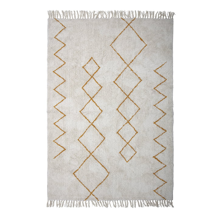 Huso rug, 200 x 140 cm, yellow / beige from Bloomingville .