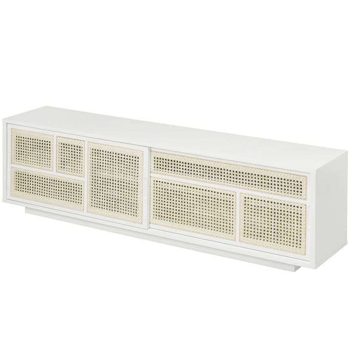 Air sideboard / TV console, white / gray by Design House Stockholm