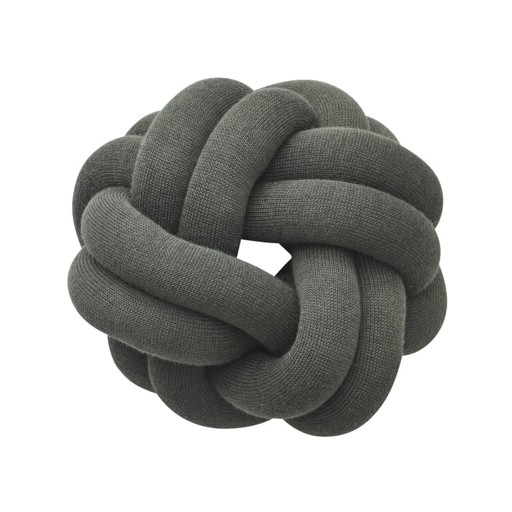 Knot cushion, forest green by Design House Stockholm