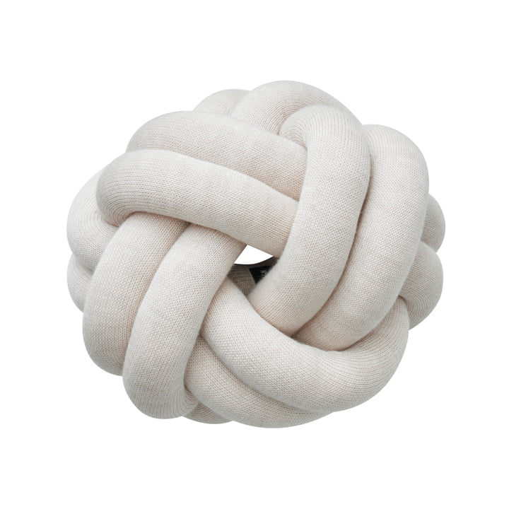 Knot cushion, cream by Design House Stockholm