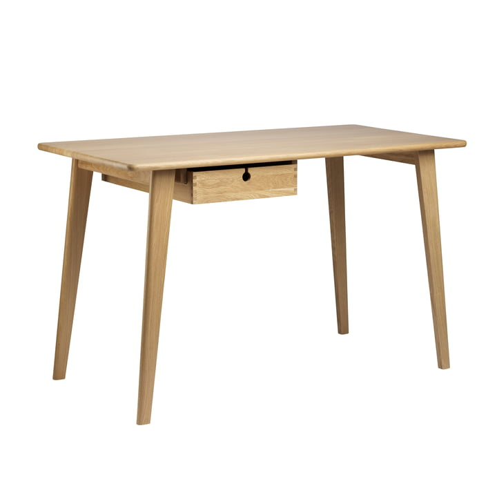 C67 desk small, 113 x 50 cm, natural oak by FDB Møbler