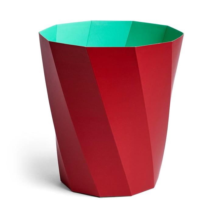 Paper Paper paper basket, Ø 28 x H 30.5 cm, dark red by Hay .