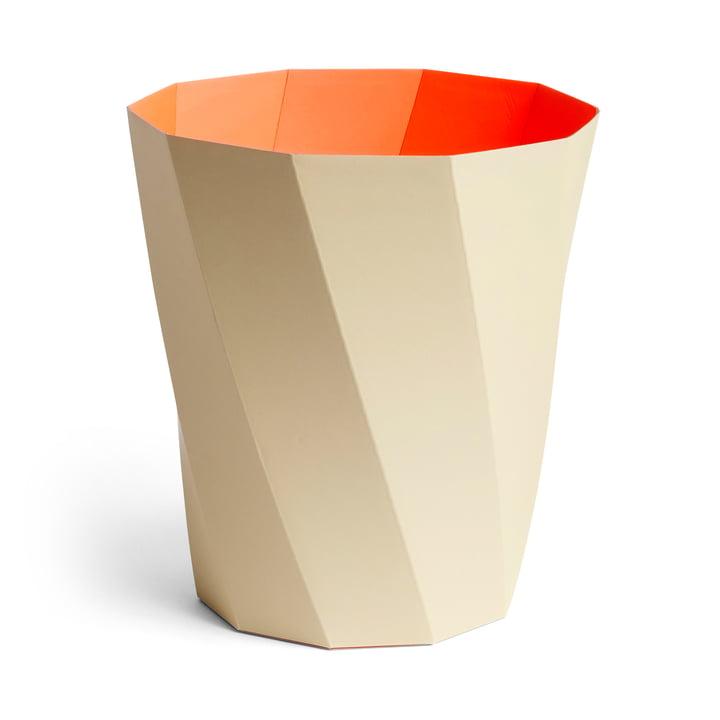 Paper Paper paper basket, Ø 28 x H 30.5 cm, warm beige by Hay .