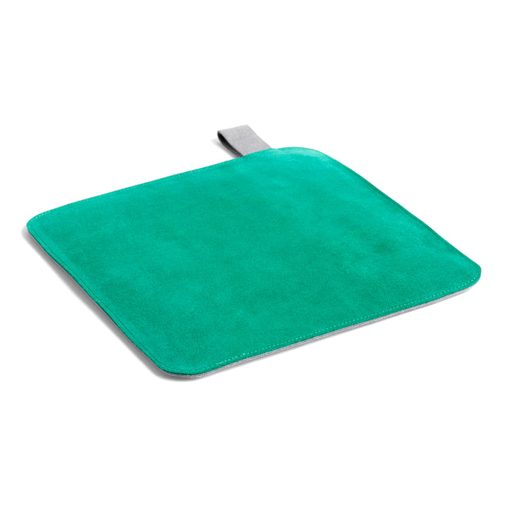 Suede pot holder, 21.5 x 21.5 cm, green by Hay .