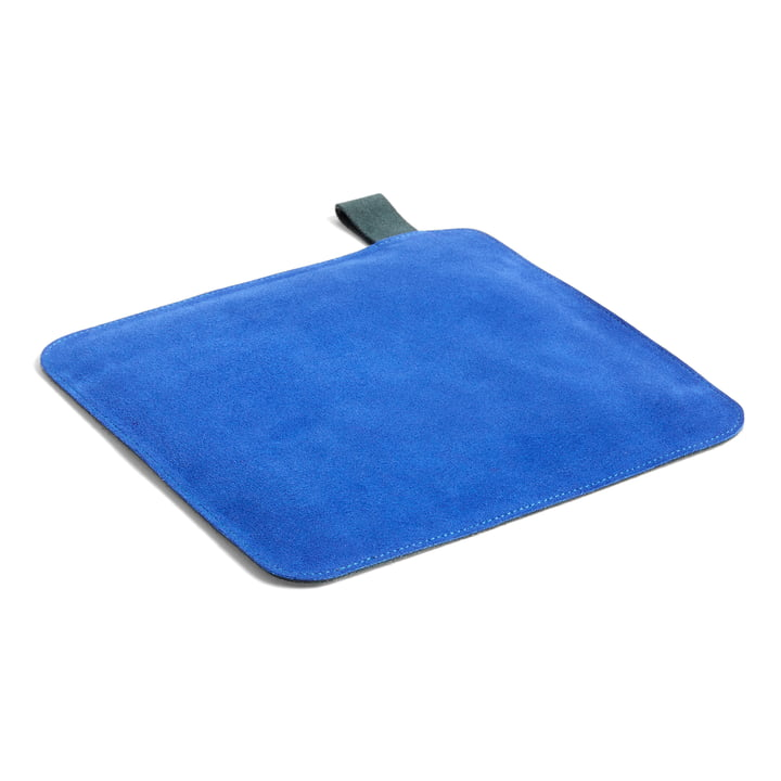 Suede pot holder, 21.5 x 21.5 cm, blue by Hay .