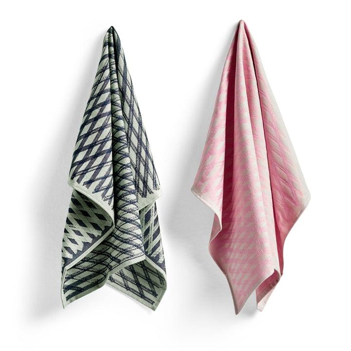 S & B tea towels, No. 4 marker diamond (set of 2) by Hay