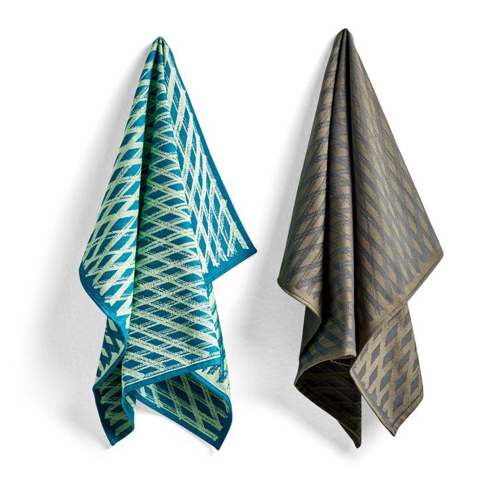 S & B tea towels, No. 3 marker diamond (set of 2) by Hay