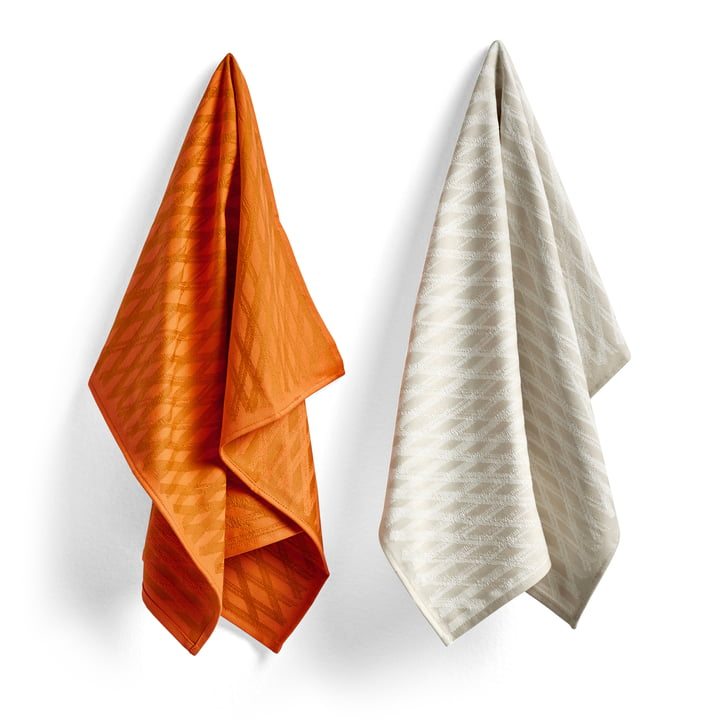 S & B tea towels, No. 2 marker diamond (set of 2) by Hay