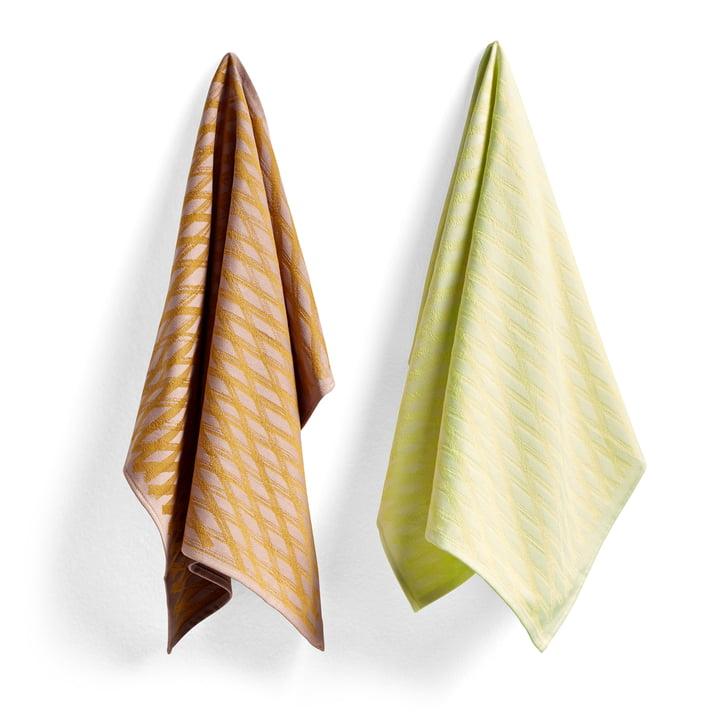 S & B tea towels, No. 1 marker diamond (set of 2) by Hay