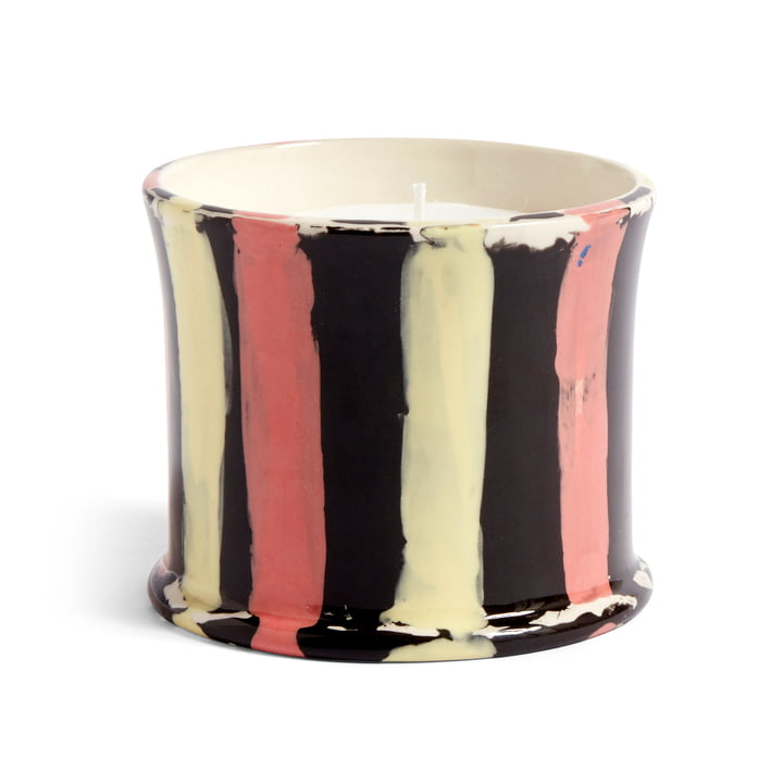 Stripe scented candle, Ø 10 x H 8.5 cm, orange blossom by Hay .