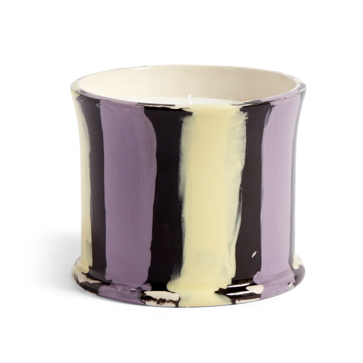 Stripe scented candle, Ø 10 x H 8.5 cm, fig leaf by Hay .