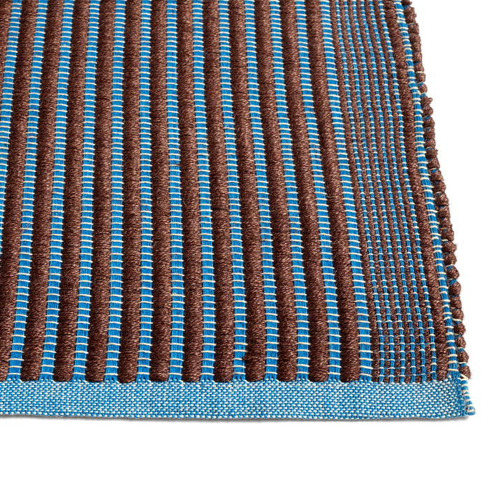 Tapis carpet, chestnut / blue by Hay .