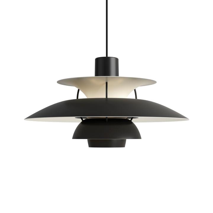 PH 5 pendant lamp, monochrome black by Louis Poulsen .