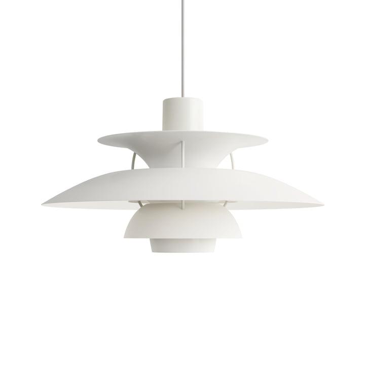PH 5 pendant lamp, monochrome white by Louis Poulsen .