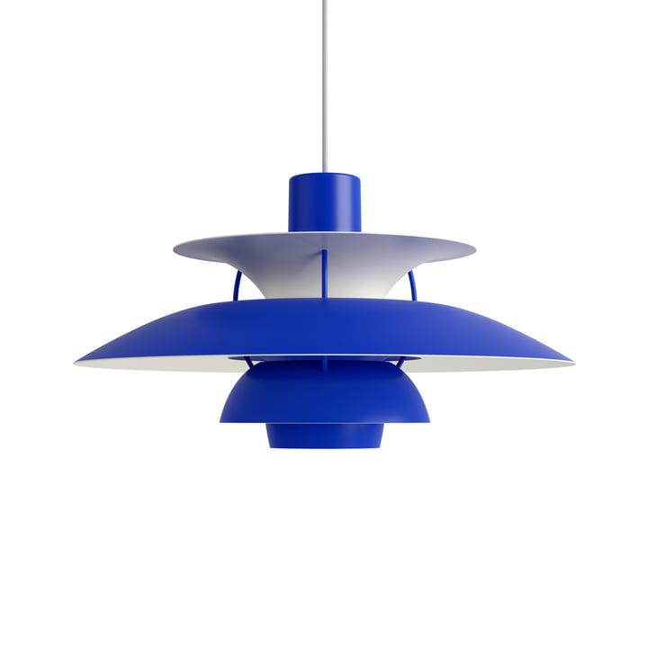 PH 5 pendant lamp, monochrome blue by Louis Poulsen .