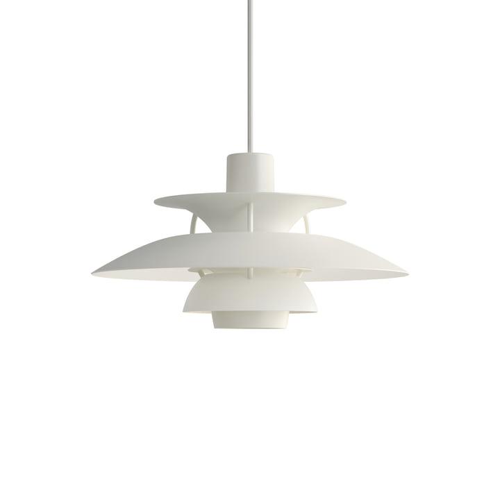 PH 5 Mini pendant lamp, monochrome white by Louis Poulsen .